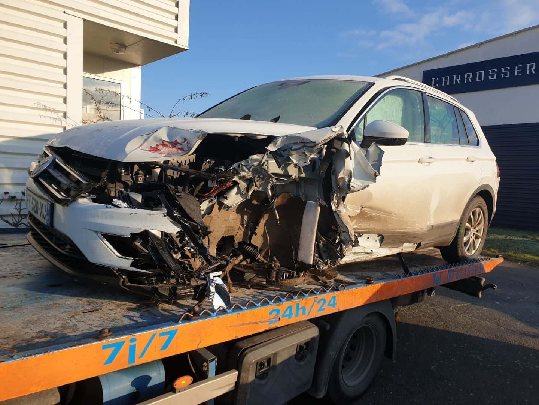 depannage enlevement voiture accidente